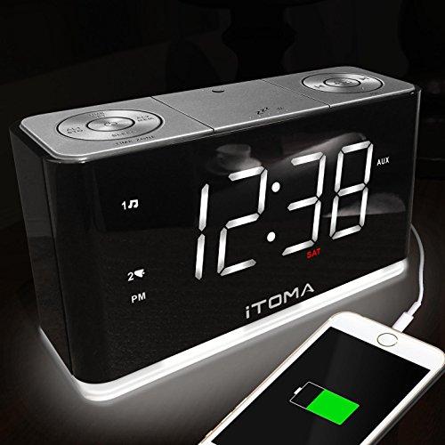 Upgraded iTOMA Alarm Clock Radio, Digital FM Radio