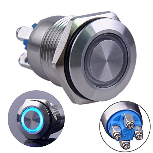 Silver  U2013 Momentary Push Button Switch  Urtone Ur123  1no