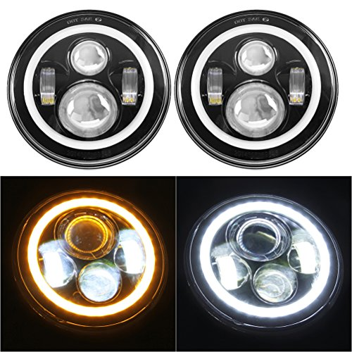 SUNPIE 7″ LED Headlights Bulb with Halo Angel Eye Ring & DRL & Turn on h1 bulb 100w, h1 bulb socket, car light bulbs, 12v light bulbs, 100 watt h1 bulbs, h1 light bulbs, fiat 500 light bulbs, best h1 bulbs, h1 bulb specs, hipro bulbs, h1 hid bulbs, h1 led bulbs, halogen light bulbs, automotive headlamp bulbs, bright h1 bulbs, h1 auto bulb, h1 replacement bulbs, h1 low beam bulbs,