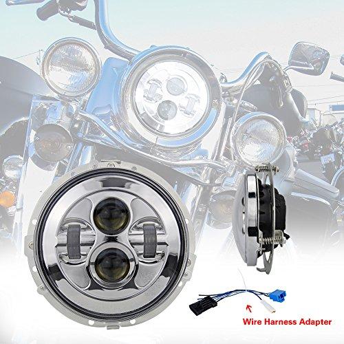 Liteway 7Inch 80W LED Headlight for Harley Davidson ... on