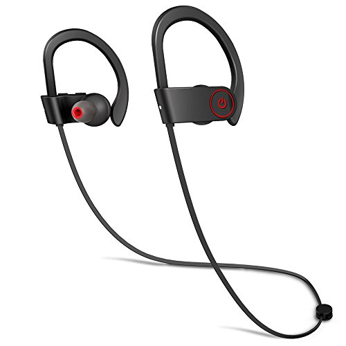 Merdumia Wireless Bluetooth Headphones, Noise Cancelling Sport Headset with Mic and Secure Ear Hooks